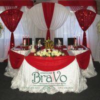 Свадьба 11 июня Эльхана и Арины в классическом бело-красном тоне.