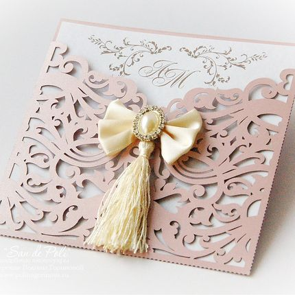 Свадебное приглашение Пепел Роза