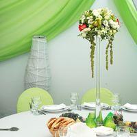 Композиции на столы гостей (Оформление в шатре мини-отеля Брехово)