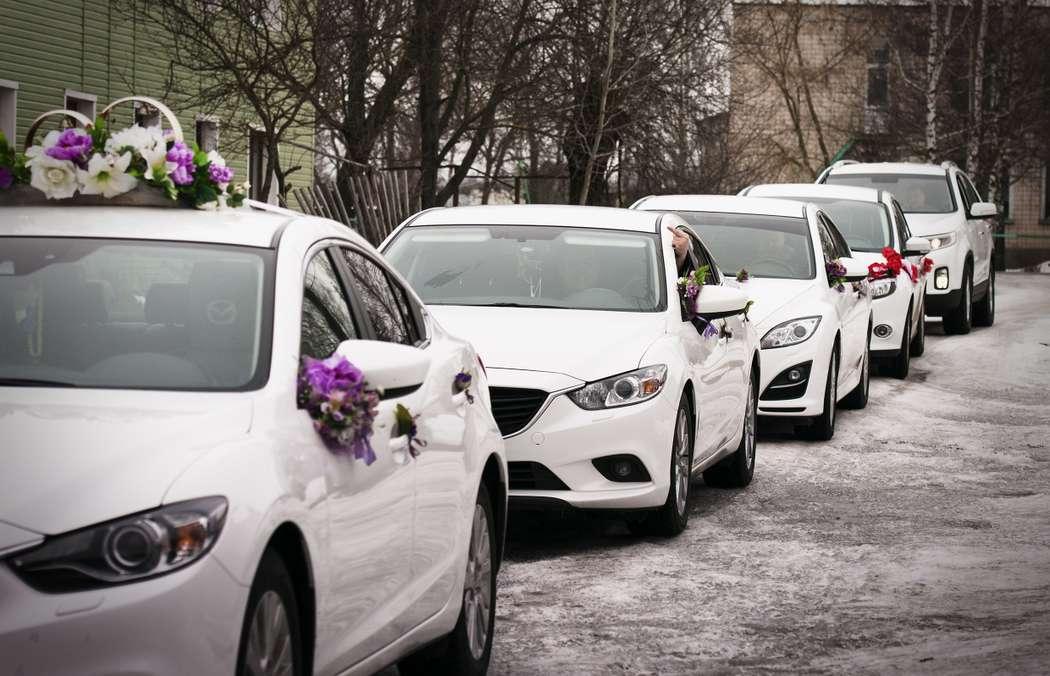 Фото 2040898 в коллекции Мои фотографии - Свадебный кортеж Mazda 6