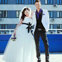 Свадебная фотосъемка на крыше. Жених и Невеста