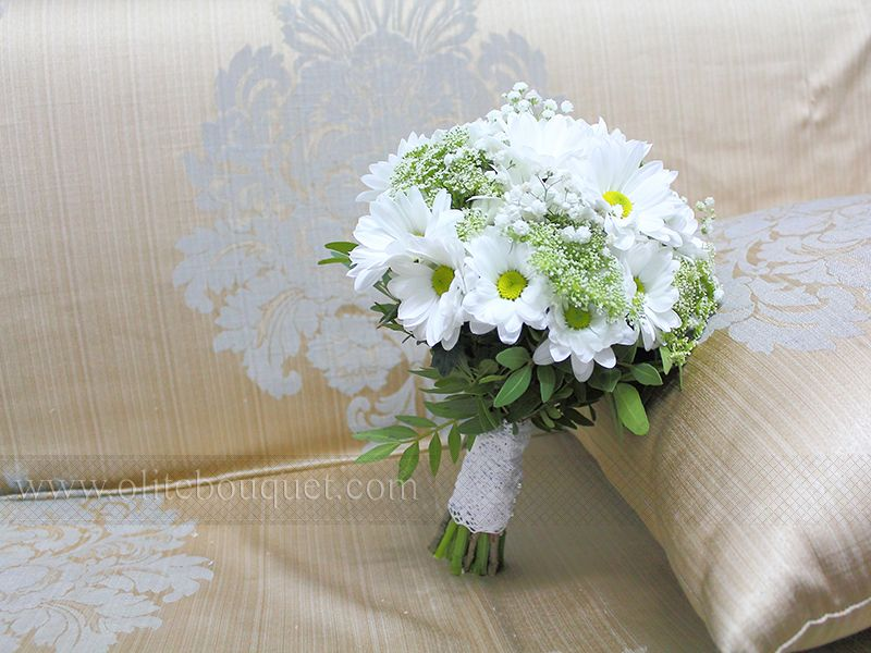 Свадебный букет из ромашек