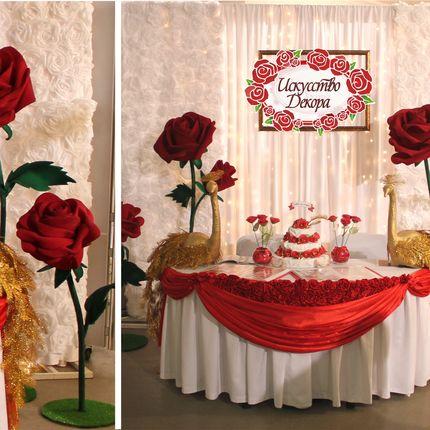 Ростовые розы красные
