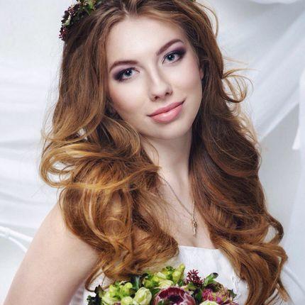 Свадебные прическа и макияж