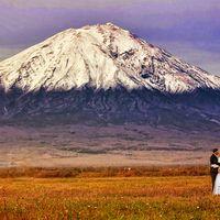 Фотоотчеты о свадьбах, осень, вулкан