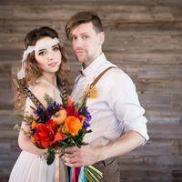 Оформление свадьбы в ярком стиле джипси