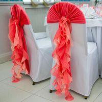 Оформление стульев на свадьбе.