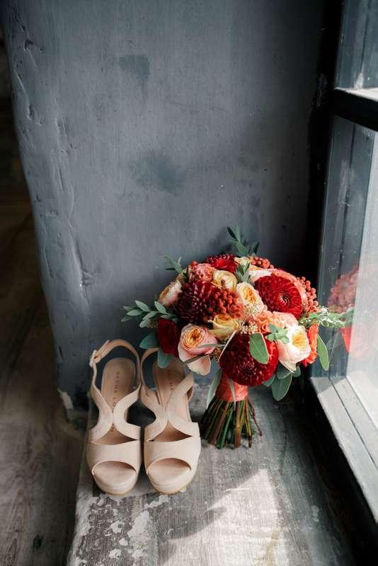 Букет марсала, персиковый - фото 16994808 Just Mood - свадебное агентство