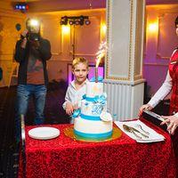 свадебный голубой  торт в москве, фотограф на свадьбу