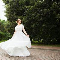 платье невесты летящее