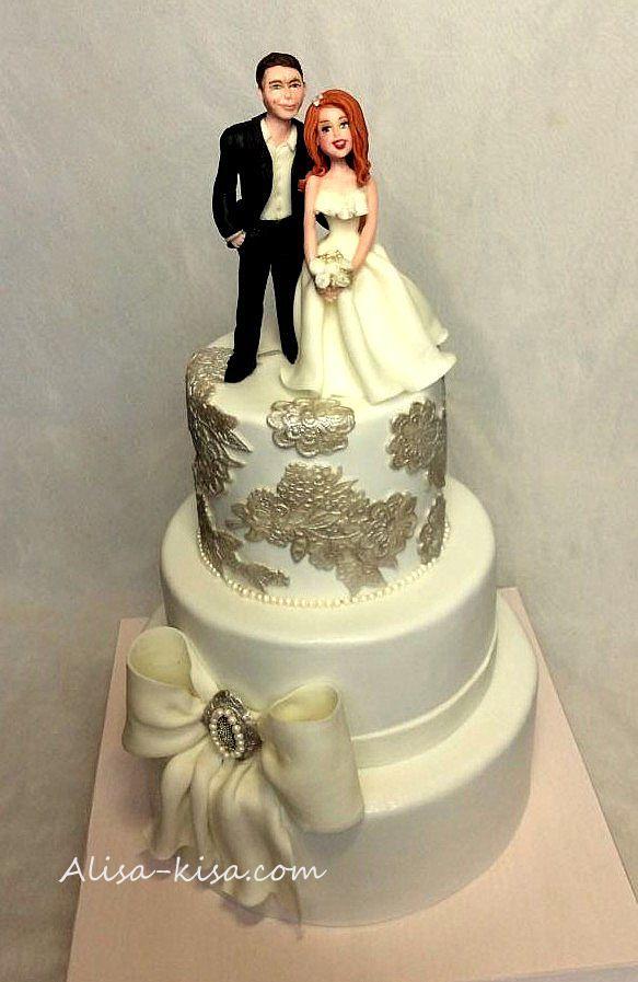 Красивый квадратный торт невесты фото