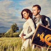 фотосессия Love story в рыцарском стиле