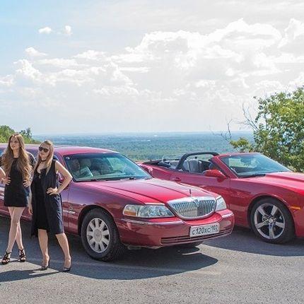 Аренда вишневого лимузина Lincoln town car