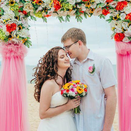 Фотосъёмка свадебной церемонии за границей, 2 часа