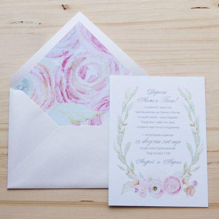 """Приглашение на свадьбу """"Ranunculus"""""""