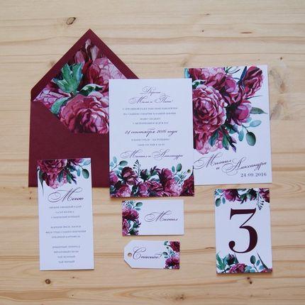 """Приглашение на свадьбу """"Цветы марсала"""""""