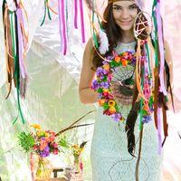 Яркий образ невесты в стиле бохо