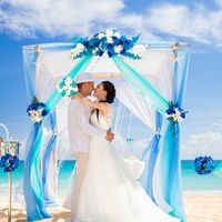 Свадьба в сине-голубых тонах