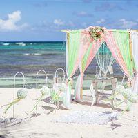 Свадьба в салатово-розовых тонах