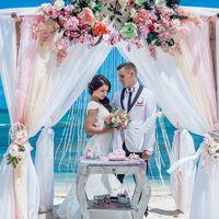 """Свадьба в стиле Шебби-Шик Свадебный пакет """"Осеннее лето"""" в Доминикане"""