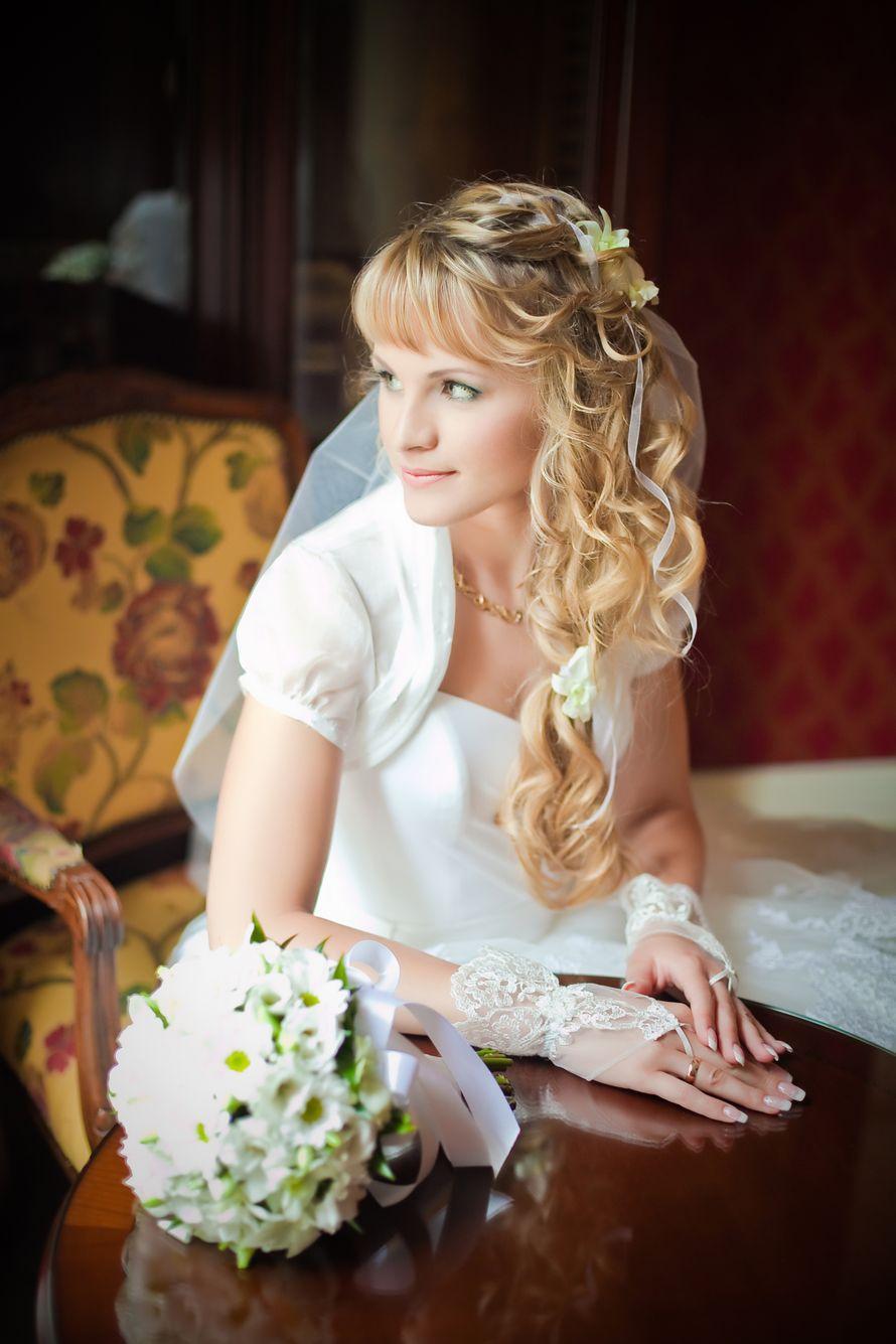Фото прически свадьба кудри