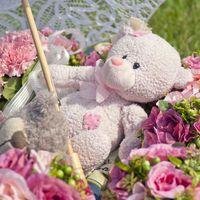 Зонтик, Теддик и цветочные шарики