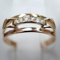 Кольцо с шестью бриллиантами. Золото 585.