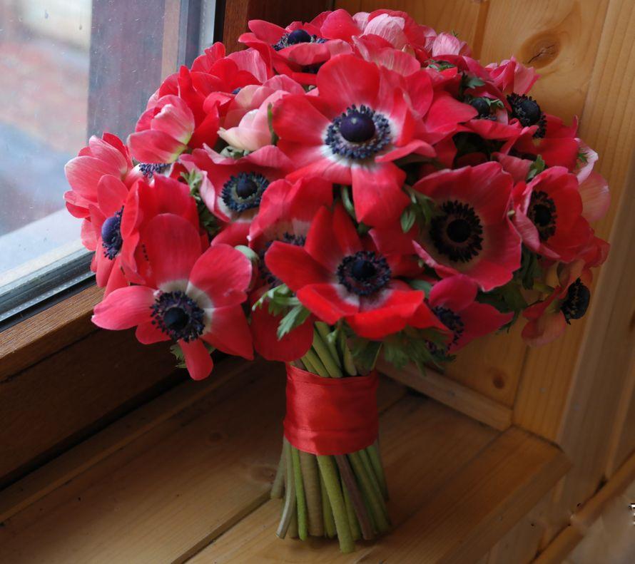 Луганск доставкой, свадебный букет красные маки