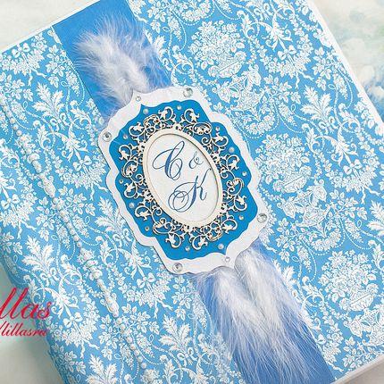 Фотоальбом с магнитными листами в синем цвете