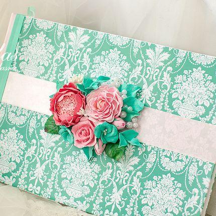 Книга пожеланий с цветами