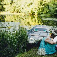 Романтическая предсвадебная фотосессия