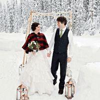 Зимняя рустик свадьба -