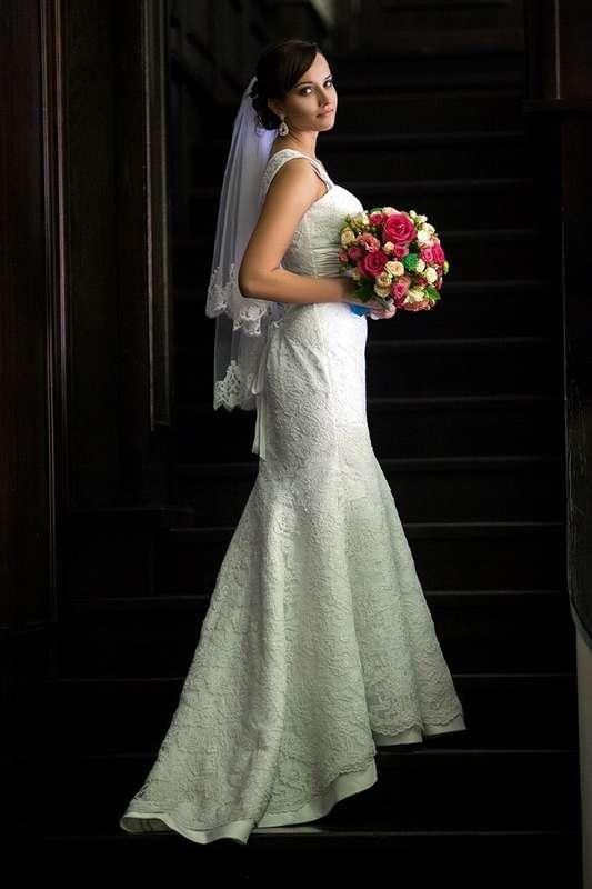 """Кружевное платье """"русалка"""" без шлейфа, на бретелях - фото 3314501 Шоу-рум """"Wedding Romm"""" - свадебные платья"""