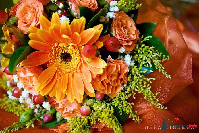 Оранжевый букет невесты - фото 120756 Фотограф Инна Птицына