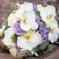 """Букет невесты с орхидеями, студия """"Настя Рай"""""""