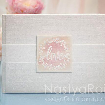 Альбом для пожеланий розовая акварель