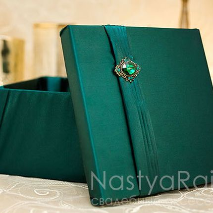 Коробка для конвертов изумруд