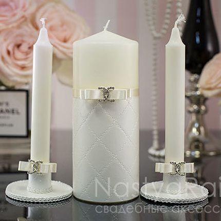 Свадебные свечи шанель