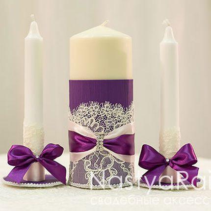 Свечи для семейного очага лиловый шик