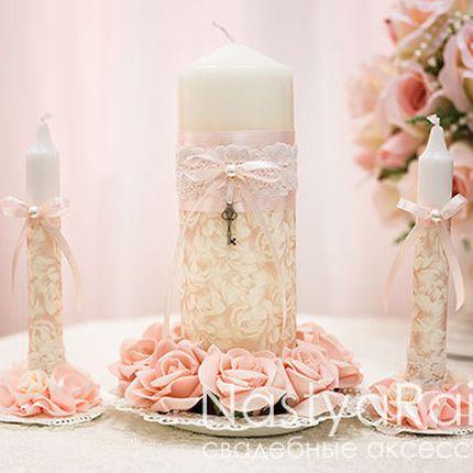 Свадебные свечи шебби шик