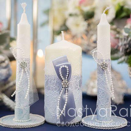 Свадебные свечи шантильи