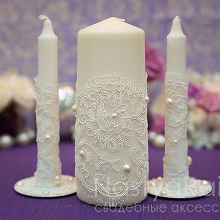 """Набор свадебных свечей """"Марсель"""" Айвори"""