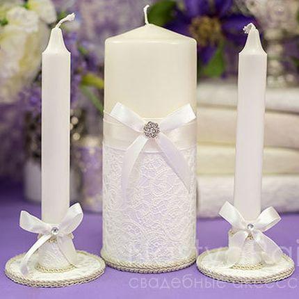 Свадебные свечи «Люкс» - белые