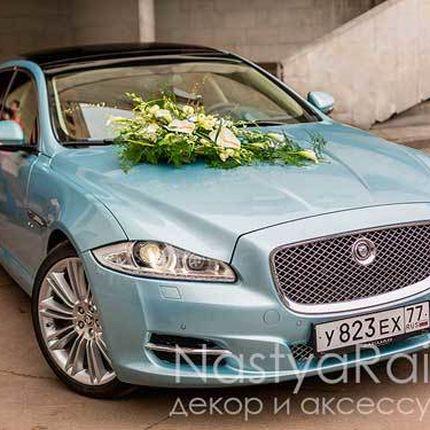 Украшение авто живыми цветами