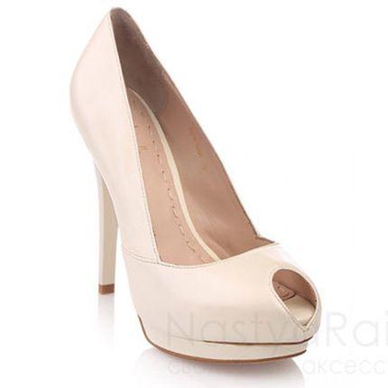 Свадебные туфли с открытым носом