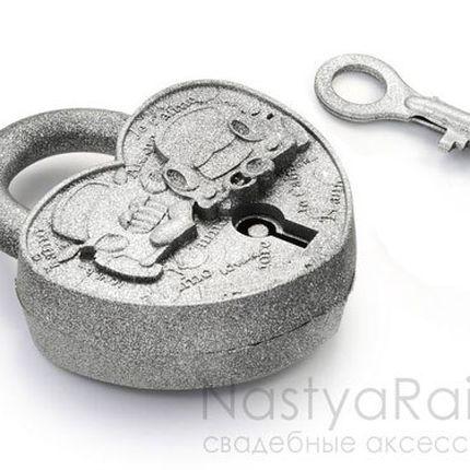 """Замочек """"Путешествие"""" античное серебро"""