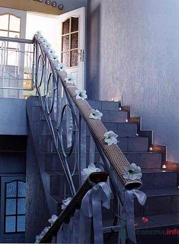 Свадебный декор лестницы и перил.  - фото 462 Any