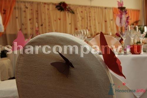"""Ткань и бумажные бабочки - фото 15178 Компания """"Шар"""" - оформление"""
