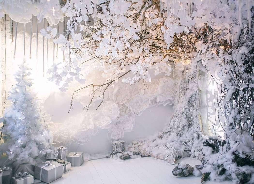 фотозона в зимнем стиле изображение
