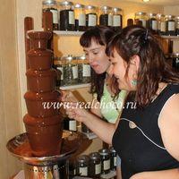 Шоколадный фонтан 80см, темный шоколад